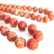 Coral red beads — Stock Photo