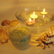 Spa candles sea shells and salt - Photo