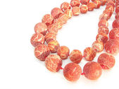 Red coral beads — Stock Photo