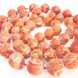 Heap coral beads — Stock Photo