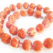 Stock Photo: Coral colored beads