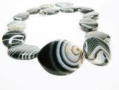 Svarta och vita pärlor — Stockfoto