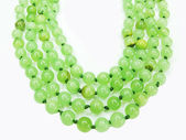 Green colored beads — Stock Photo