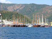 Marine port in eagen sea turkey — Stock Photo