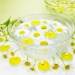 Spa candles daisy flowers — Stock Photo #11082337
