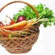 Basket full of vegetables — Stock Photo