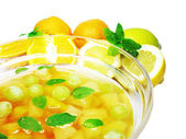 Punch cocktail drink with fruit — Stock Photo