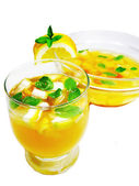 Punch cocktail drink with fruit — Foto Stock