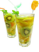 Fruit cold juice drinks with kiwi — Stock Photo