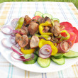 Stock Photo: Cooked meat with vegetables barbecue