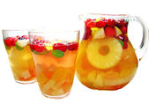 Punch cocktail drink with fruit — Stok fotoğraf
