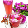 Punch cocktail tedrink with wild rose — Stock Photo #11477333