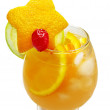 Fruit punch cocktail drink with orange — Stock Photo