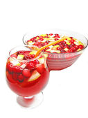 Punch cocktail drink with fruit — Стоковое фото