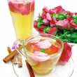 Punch cocktail tedrink with wild rose — Stock Photo #11602868