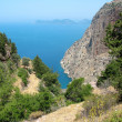 Butterfly valley deep gorge fethiye turkey — Stock Photo