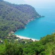 Beach landscape in kabak bay turkey — Stock Photo