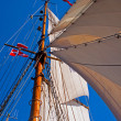 Sails of a tall sailing ship — Stock Photo #11595756