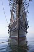 Bow of a Schooner at sea — Stock Photo