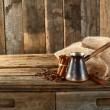 Stock Photo: Coffee and cinnamon