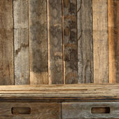 Brown wooden table — Stock fotografie