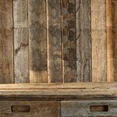 Hnědý dřevěný stůl — Stock fotografie