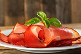 Smoked meat of ham — Stock Photo
