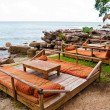 Relax zone on Serendipity beach in Sihanoukville, Cambodia — Stock Photo
