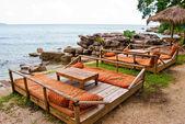 Relax zone on Serendipity beach in Sihanoukville, Cambodia — Stock Photo