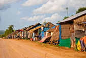 Slums on the road to the Otress beach, Sihanoukville, Cambodia — Stock Photo