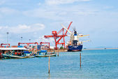 Port, Sihanoukville, Cambodia — Stock Photo