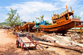 Construction and repair of vessels, Sihanokville, Cambodia — Stock Photo