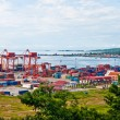 View from the top of the port, Sihanoukville, Cambodia - Stock Photo