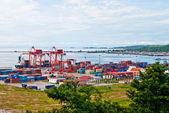 View from the top of the port, Sihanoukville, Cambodia — Stock Photo