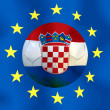 Croatia  a soccer  ball — Stock Photo