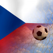 Stock Photo: Czech soccer ball in european