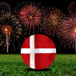 Stock Photo: Denmark soccer ball in european
