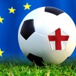 Stock Photo: England soccer ball in european