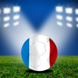 Stock Photo: France soccer ball in european
