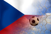 Czech a soccer ball in european — Stock Photo