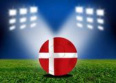Denmark a soccer ball in european — Stock Photo