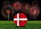 Dänemark im europäischen fußball — Stockfoto