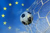 футбольный мяч в европейских — Стоковое фото