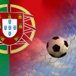Stock Photo: Portugal soccer ball in european