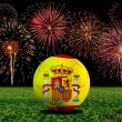 Stock Photo: Spain soccer ball in european