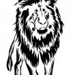 Lion. tattoo. — Vector de stock