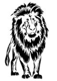 Lion. tatouage. — Vecteur