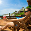 Young Woman on the Beach — Stock Photo #11103775
