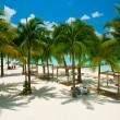 Caribbean Beach. Paradise Resort - Stock Photo