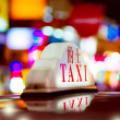 Hong Kong Night Taxi — Foto Stock